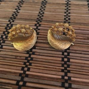 Lovely Napier Gold Vintage Perfect Earrings